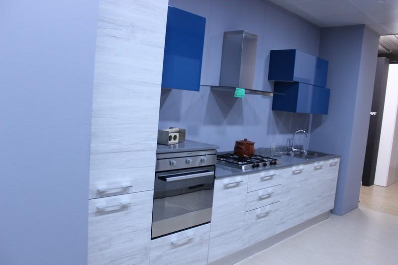 Cucina Nice di Forma 2000 in laminato Rovere Bianco