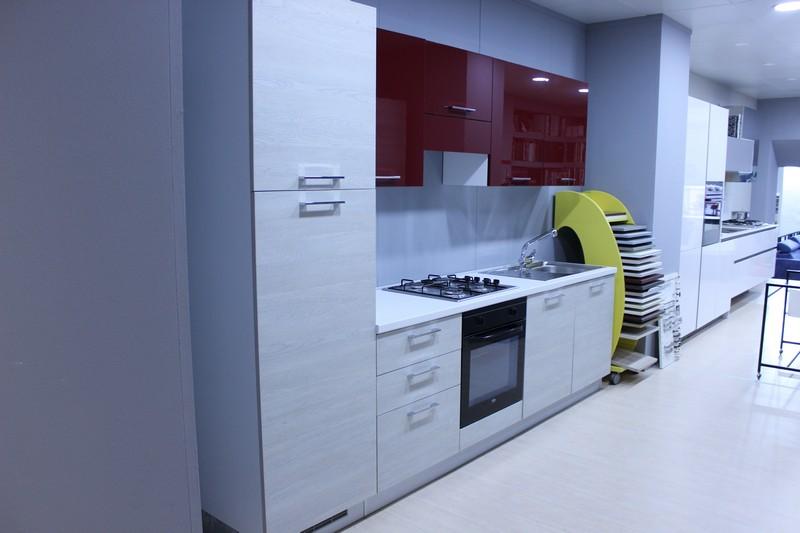 Cucina Easy kitchen mod. Trend in laminato Rovere Gray