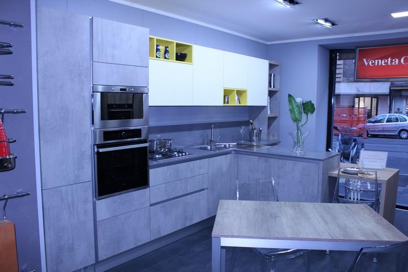 cucina easykictchen mod. Trend in laminato grigio Gray